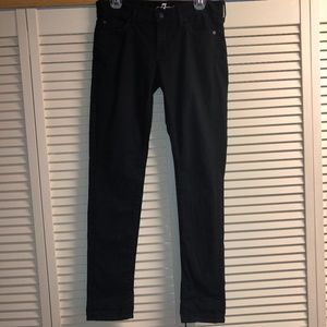 7 for All Mankind Roxanne Ankle Black Skinny Jeans
